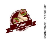 food kebab logo  unique design  ... | Shutterstock .eps vector #795231289