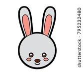 rabbit or bunny cute animal... | Shutterstock .eps vector #795232480