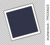 photo frame with shadow on... | Shutterstock .eps vector #795233623