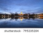capitol building and reflection ... | Shutterstock . vector #795235204