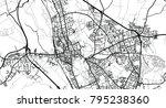 urban vector city map of oxford ... | Shutterstock .eps vector #795238360