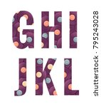retro vinyl records alphabet... | Shutterstock .eps vector #795243028