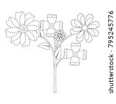 flower bouquet icon image    Shutterstock .eps vector #795245776