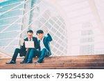 successful asian business man... | Shutterstock . vector #795254530