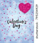 valentine's day love and... | Shutterstock .eps vector #795254929