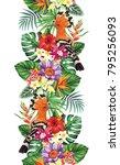 tropical seamless vertical... | Shutterstock .eps vector #795256093