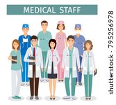 group of medical people...   Shutterstock .eps vector #795256978