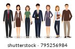 group of business working...   Shutterstock .eps vector #795256984