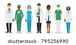 group of medical people... | Shutterstock .eps vector #795256990
