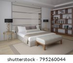 stylish bedroom with stylish