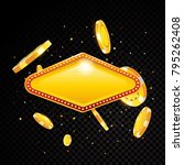 golden vector casino vegas sign ... | Shutterstock .eps vector #795262408