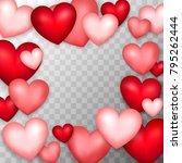 many hearts. vector... | Shutterstock .eps vector #795262444