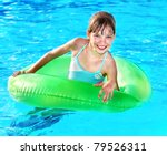 children sitting on inflatable... | Shutterstock . vector #79526311