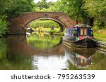 a scenic stone arched bridge... | Shutterstock . vector #795263539
