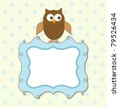 template greeting card  vector... | Shutterstock .eps vector #79526434
