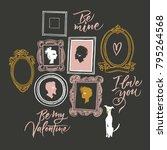 illustration for valentine's... | Shutterstock .eps vector #795264568