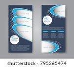 skinny flyer or leaflet design. ... | Shutterstock .eps vector #795265474