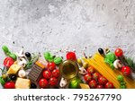 food ingredients for italian... | Shutterstock . vector #795267790