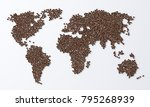 coffee beans on white... | Shutterstock . vector #795268939