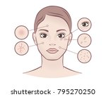 spa concept   skin care   young ... | Shutterstock .eps vector #795270250