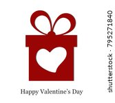 valentine's day greeting card.... | Shutterstock .eps vector #795271840