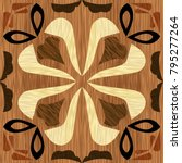 wood art inlay tile  geometric...