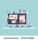 vector illustration. creative... | Shutterstock .eps vector #795278284
