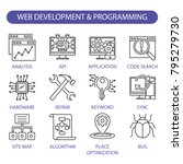web development and programming ... | Shutterstock .eps vector #795279730
