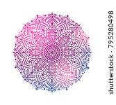 ornamental round pattern ... | Shutterstock .eps vector #795280498