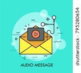 opened yellow envelope  play... | Shutterstock .eps vector #795280654