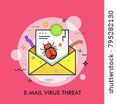 dangerous bacterias  microbes ... | Shutterstock .eps vector #795282130