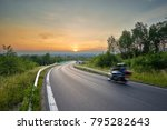 motion blurred motorcycle on... | Shutterstock . vector #795282643