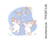 everyday holiday card with two... | Shutterstock .eps vector #795287128