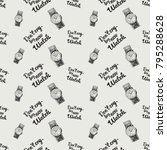 fashion pattern with dont cry... | Shutterstock .eps vector #795288628