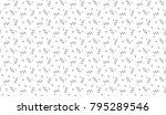 memphis seamless pattern.... | Shutterstock .eps vector #795289546