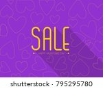 happy valentines day sale text... | Shutterstock .eps vector #795295780