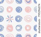 ornate dotted pattern. vector...   Shutterstock .eps vector #795296374