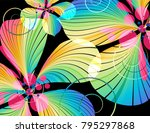 abstract multicolored flowers... | Shutterstock . vector #795297868
