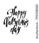 happy valentines day vintage... | Shutterstock .eps vector #795298060