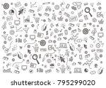 vector concept of online... | Shutterstock .eps vector #795299020