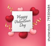 valentines day sale background... | Shutterstock .eps vector #795304684