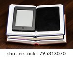 e book and old books. new... | Shutterstock . vector #795318070