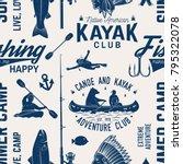 canoe  kayak and fishing club...   Shutterstock .eps vector #795322078