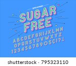 abstract font  letters and... | Shutterstock .eps vector #795323110