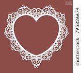 laser cut heart shaped frame....   Shutterstock .eps vector #795326674