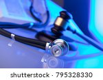 medical law concept. gavel ... | Shutterstock . vector #795328330