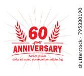 60 years anniversary logo.... | Shutterstock .eps vector #795330190