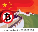 bitcoin trade is limited in... | Shutterstock .eps vector #795332554
