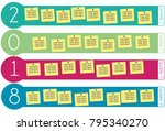 2018 roadmap for deliverables... | Shutterstock .eps vector #795340270