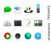 social media icons   set 2 icon ... | Shutterstock .eps vector #79534453